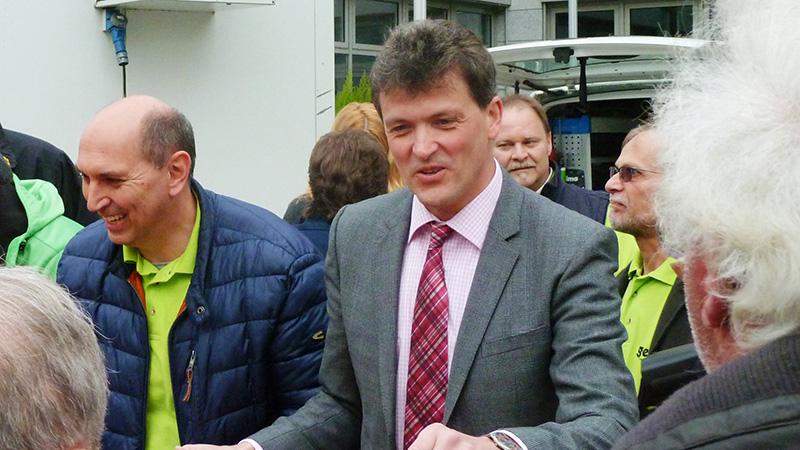 Unser Bürgermeister beim Sinzheimer Frühjahrsmarkt 2016