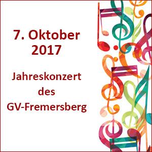 Jahreskonzert des GV Fremersberg 2017