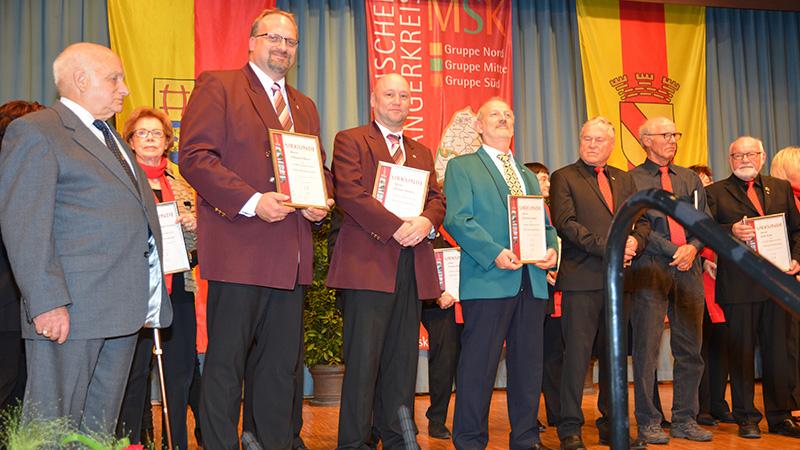 Ehrung Johannes Hurst Tom Niemetz für 25 Jahre Mitgliedschaft