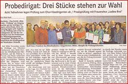 Presseartikel zum Probedirigat